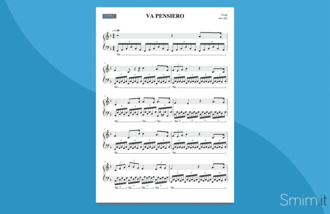 va pensiero | spartito gratis per pianoforte