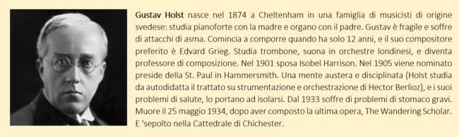 Biografia di Gustav Holst