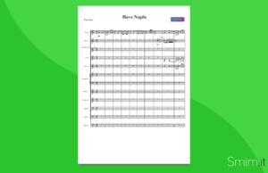 hava nagila | partitura gratis per orchestra scolastica