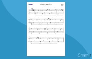 ninna nanna di brahms | spartito gratis per pianoforte facile