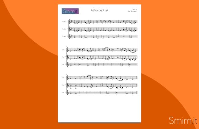 astro del ciel | spartito gratis per trio di violini