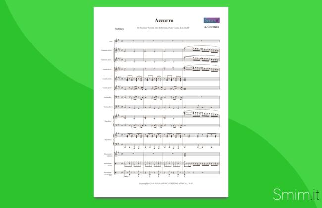 azzurro | partitura per orchestra scolastica