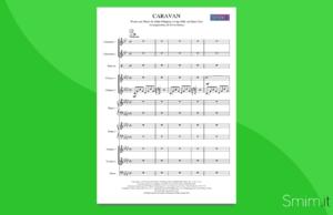 caravan   partitura per orchestra scolastica