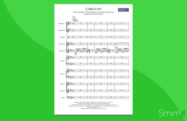 caravan | partitura per orchestra scolastica