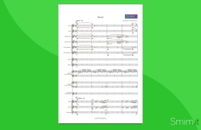 mozart medley | partitura gratis per orchestra scolastica