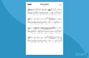 notturno di chopin | spartito gratis per pianoforte