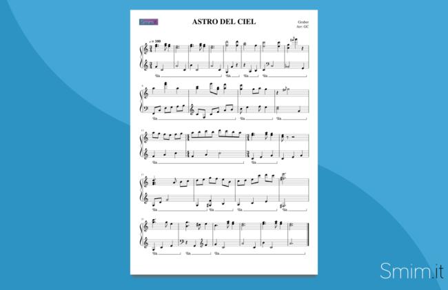 astro del ciel | spartito gratis per pianoforte