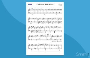 Carol of the Bells   spartito gratis per pianoforte