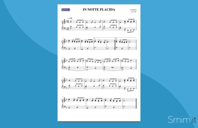 in notte placida | spartito gratis per pianoforte