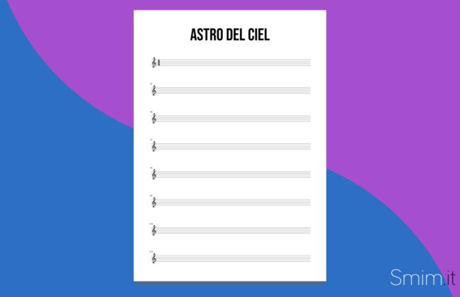 astro del ciel (silent night) | spartiti e accordi gratis per tutti gli strumenti