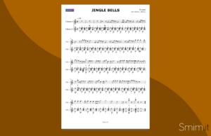 jingle bells   spartito gratis per duo di chitarre