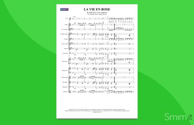la vie en rose | partitura per orchestra scolastica