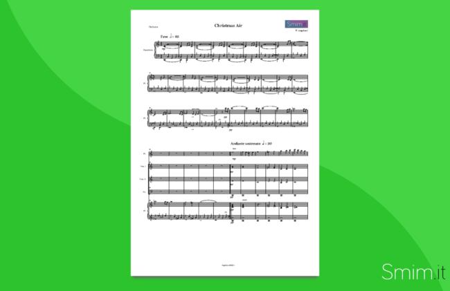 medley natalizio | partitura gratis per orchestra scolastica