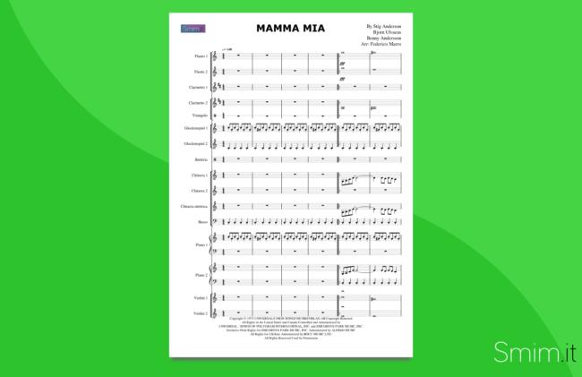 mamma mia (abba) | partitura per orchestra scolastica