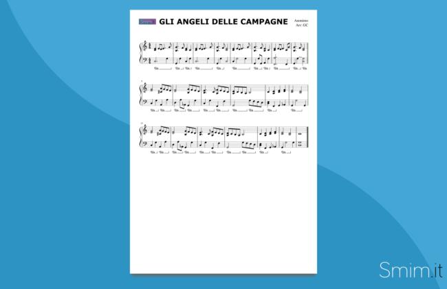 gli angeli delle campagne | spartito gratis per pianoforte