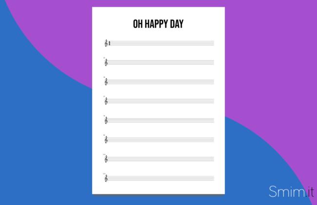 oh happy day - spartiti e accordi per tutti gli strumenti