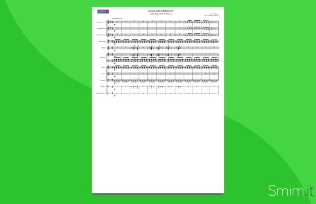 la sagra della primavera di stravinsky | partitura gratis per orchestra scolastica